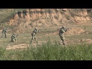 Тренировка отряда спецназа ЦВО под Самарой