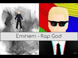 Eminem - Rap God - Supersonic Speed - 100 слов за 16 секунд часовая версия (1 hour)