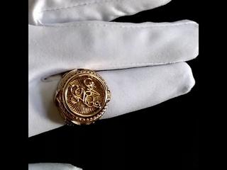 Мужское кольцо с инициалами из красного золота (Вес 25 гр.) Арт i1575 Возможна модификация на 36 гр.