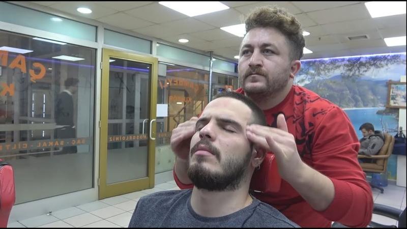 ASMR Turkish Barber Face Head and Body Massage 200