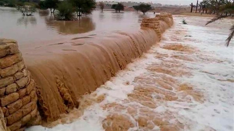 Flash floods storm wind and thunderstorm in Saudi Arabia Jizan and Asir Natural disasters