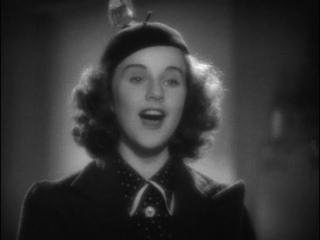 """Поет Дина Дурбин (из к/ф """"100 мужчин и одна девушка"""", США, 1937 г.)"""