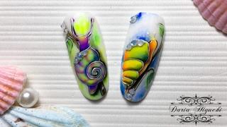 Воздушные Акварельные Улитки! Салонный Дизайн Ногтей!