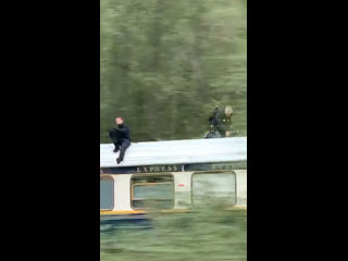Tom Cruise on the set of Mission: Impossible 7 in Norway