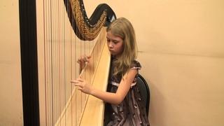 Арфа - Брамс - Колыбельная Кротова Алиса -  Играют дети