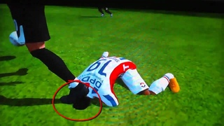 FIFA 11 - Bug/Glitch - Head Dissapeared into the ground! - Headshot!