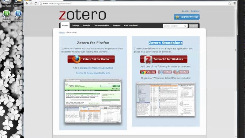 Getting Started with Zotero Using Zotero Standalone