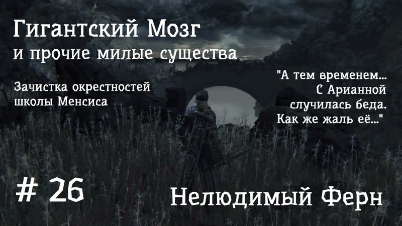 26 Bloodborne Нелюдимый Ферн Арианна Гигантский Мозг Зачистка окраин