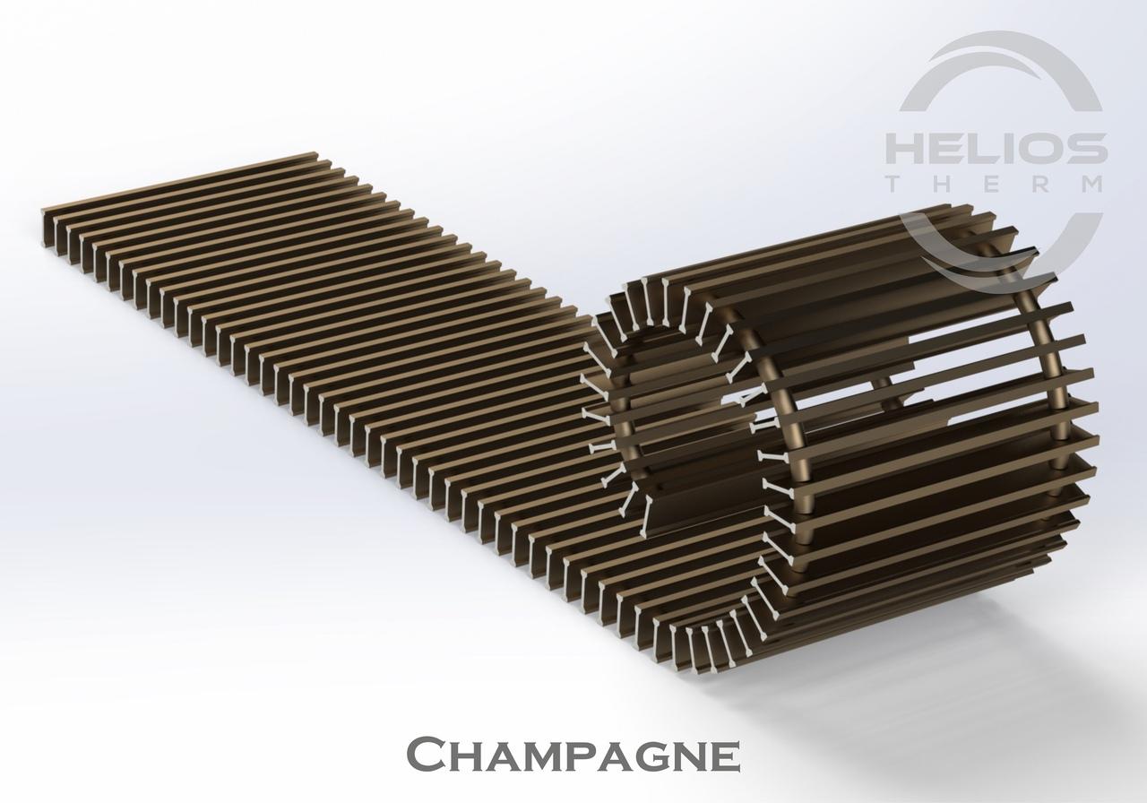 Решетка конвектора Helios Therm Champagne