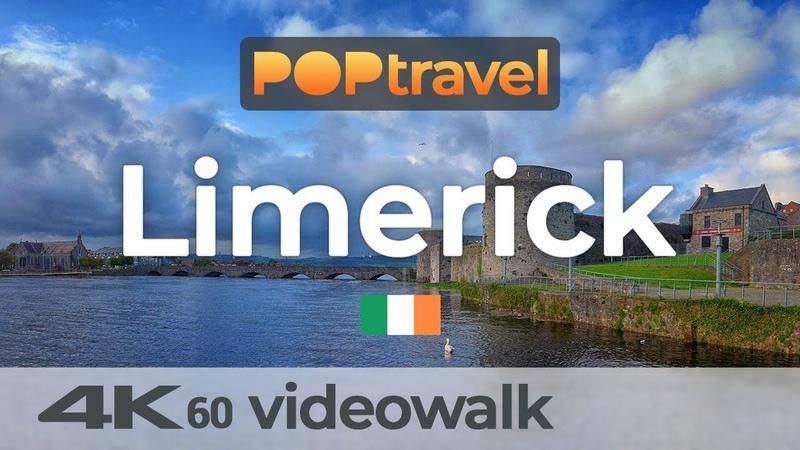 Walking in LIMERICK Ireland 🇮🇪 4K 60fps UHD
