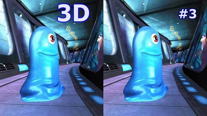 Monsters vs Aliens 3D video SBS VR box google cardboard 3
