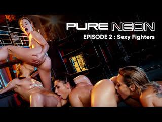 2 Alyssa Reece, Honey Demon, Amirah Adara, Veronica Leal / Чистый Неон [2020, Lesbian, 18+ Teens, Anal, Orgy, HD 1080p]