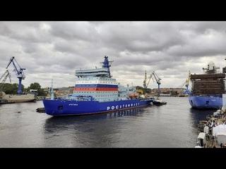 """Новая """"Арктика"""": самый большой атомный ледокол"""