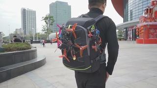 Рюкзак для переноски и хранения дрона, пульта, FPV-очков, батареек