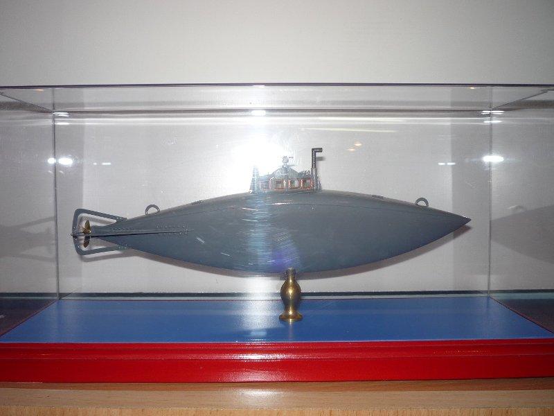 Модель подводной лодки С.К. Джевецкого (вариант № 3). Из собрания Музея истории подводных сил России им. А.И. Маринеско.