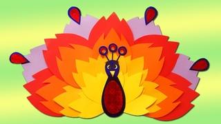 Аппликация - волшебная птица из бумаги своими руками. Easy paper birds